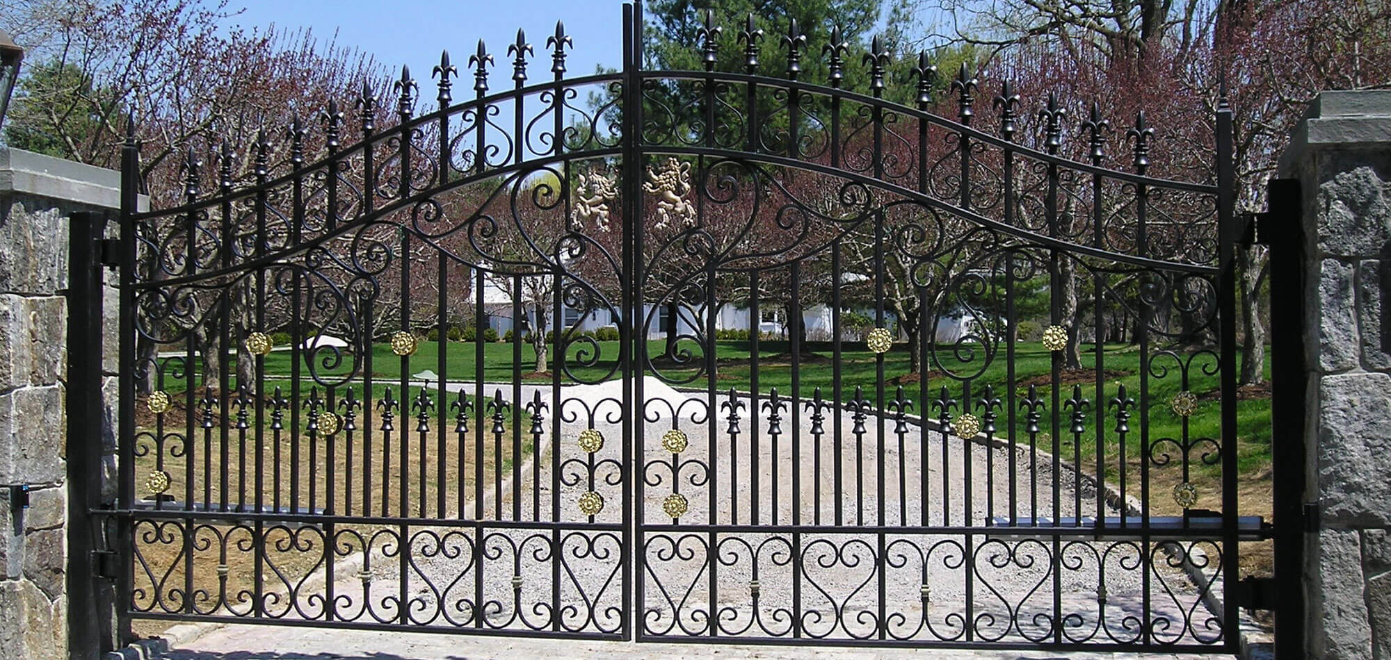 Grand Entrance Gates Walls Custom Designs Westchester County Ny